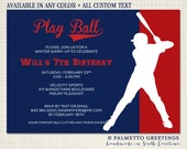 PRINTABLE - Baseball Birthday Party Invitation -Customize all Text, Batter Up, Ballgame, TBall, Spring Training, Take me out to the ballgame