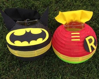 Batman and Robin Inspired Super Hero Paper Lantern Decoration