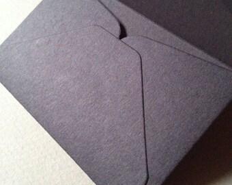 """100 Black Mini Envelopes Size 2 1/4"""" x 3 1/2"""""""