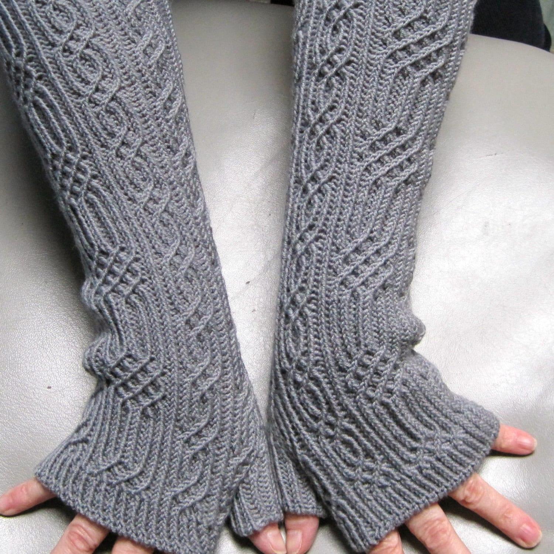 Knit Mitt Pattern: Elger Long Fingerless Mitt Knitting