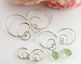 Curly Hoops Silver