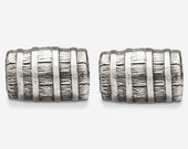 Sterling Silver Barrel Cufflinks