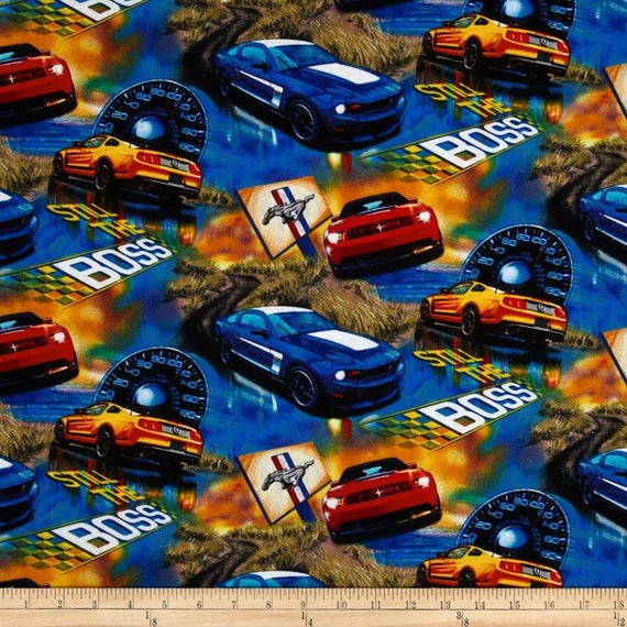 Items Similar To Toddler Boy Bedding Ford Mustang Blanket