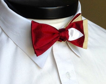The Lee - Our Marvel Inspired bowtie in Iron Man colors