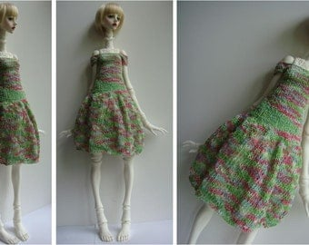 SALE - Doll-Chateau YOUTH: Knitted Off-Shoulder Full-Skirted Dress