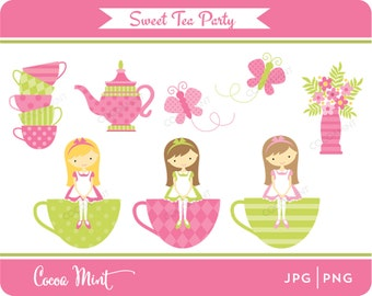 Sweet Tea Party Clip Art