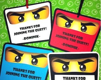 NINJAGO Birthday Party Favor Gift Tags