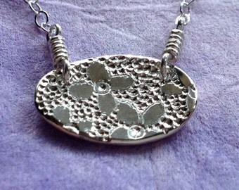 Tiny Lilac Sterling Silver Necklace