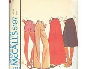 McCalls 5197 1970s Pants, Skirt, Shorts