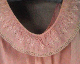 baby-doll style Vintage Nightgown, Pink, size medium