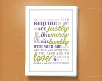 Act, Love, Walk print {S U B W A Y} style