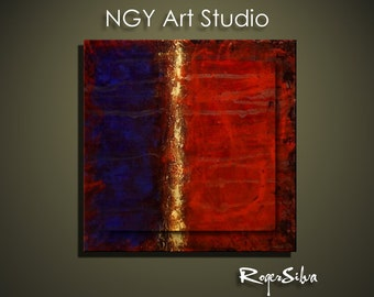 "NGY 29.5"" x 29.5"" Modern Contemporary Abstract Metal Wall Sculpture Art"