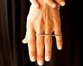 Geometric Ring, Hammered ring, silver modern ring, elegant silver ring