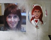 Portrait Cartoon  Caricature Hand Painted Wine Glasses Personalized Glasses