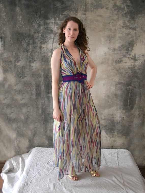 1930s Sheer Silk Dress