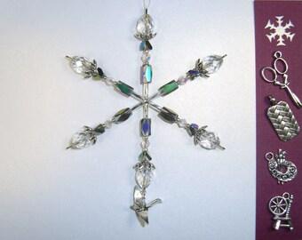 Crafter's snowflake ornament / suncatcher / light catcher