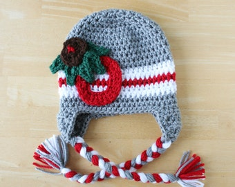 Ohio State Buckeyes Hat, crochet OSU hat for kids, Buckeyes hat for kids and teens, 5t to Preteen