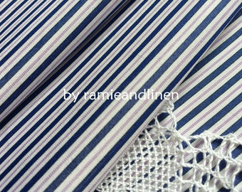 "silk fabric,  neat stripes weaved silk cotton blend fabric, half yard by 59"" wide"