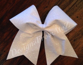 White Sparkle Cheer Bow