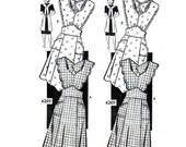 Vintage 1940s Bib Apron Pattern Uncut Size Med Bust 36 38 Anne Adams 4269