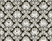 Andrea Victoria Damask in Black Fabric by Riley Blake , 1 yard