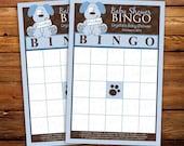 Baby Bingo, Blue Bingo Game, Dog Bingo, Puppy Baby Shower game, Boy Shower game, Printed Bingo cards