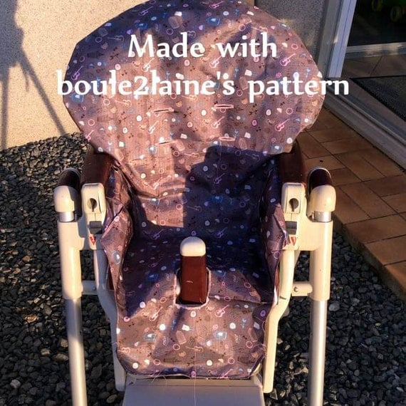 Pdf pattern diy high chair cover patron et tuto pdf for Chaise haute prima pappa diner savana cacao