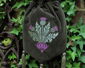 Victorian Thistle purse - Green