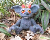 Needle Felted Goblin Baby Made to Order OOAK