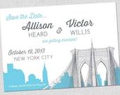 SMALL Brooklyn Bridge Save the Date Card