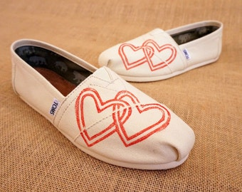 Heart TOMS Shoes