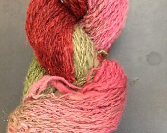 Alpaca Yarn Sherbert Hand Dyed Colorado Alpaca Yarn