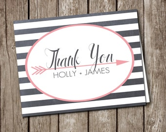 Thank You Cards - Custom Printable - Wedding / Shower / Party Stationary