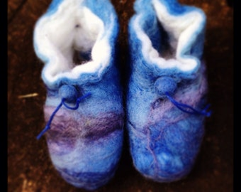 Eco friendly, Bespoke handfelted slippers and booties for all ages