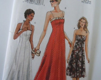 Vogue Sun Dress Pattern V7875  Size 6,8,10
