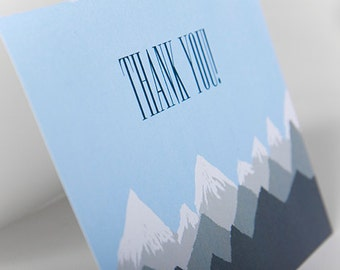 Thank You Mountain Card Instant Download, Printable Mountain Thank You, Denver, Colorado, Mountains, Skiing, Blue Skies