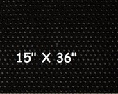 "Non Slip Fabric - Jiffy Grip - Baby Shoe Sole Fabric - Pajama Feet - Black Cotton - 15"" X 36"""