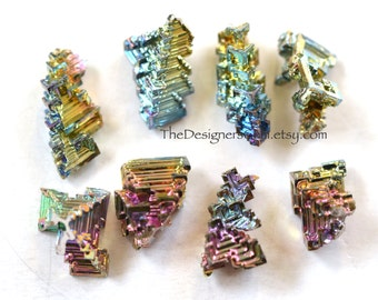 Smaller Size - BISMUTH CRYSTAL Loose Stone Cabochon Specimen Natural Rainbow Focal - Perfect for Wire Wrapping!