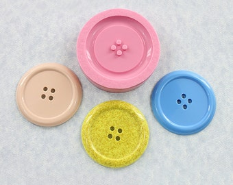 Button Mold Silicone Mould Resin Polymer Clay Wax Chocolate Fondant (350)