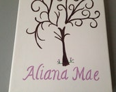 Baby Shower Guest Book alternative fingerprint stamp tree