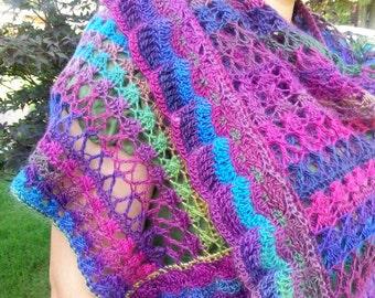 Luxurious Modern Shawl Handmade to Order Crochet