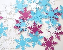 50 Snowflake Confetti, Frozen Birthday Party Decorations - No365