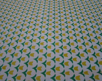 Yellow Flowers, Folk Modern by Kokka fabrics 1/2 yd Canvas