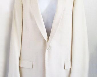 1950s Atomic Ivory Winter Weight Tux Jacket - Oxford Street, London