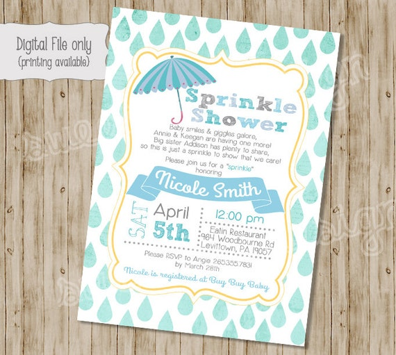 boy shower invitation baby sprinkle invitation sprinkle baby shower