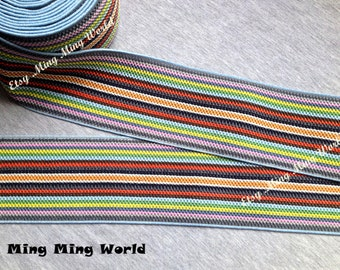 1.5 Yrads Colorful Style Elastic Trim for Custom Gift, Altered Couture, Home Decor,Waistband