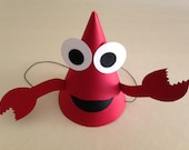 CRAB Birthday Party Hats (Set of 6) -- Can you hear the clicking of their claws?