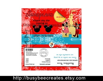 Mickey Mouse Personalized Chocolate Bar Wrapper- DIGITAL