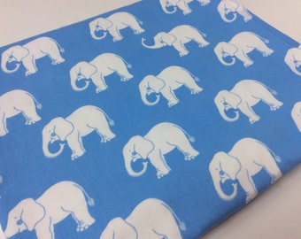 Baby Boy Blanket, Elephants,  Blue Baby Blanket, White Minky Dot, Trunk Show, Modern, Circus Baby Boy