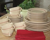 Rim Rol Restaurant  Inca Ware Eight Piece Place Setting by Shenango